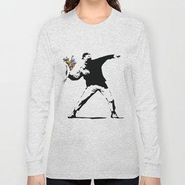 Banksy Flower Thrower Long Sleeve T-shirt