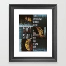 Blood Simple Framed Art Print
