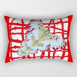 RED-WHITE MOTHS  IN SYNCHRONIZED FLIGHT Rectangular Pillow