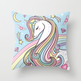 Unicorn Throw Pillow