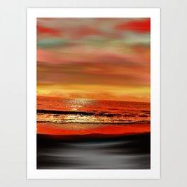 Twilight Glow Seascape Art Print