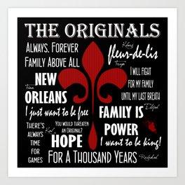 The Originals inspired art print (Black) Art Print