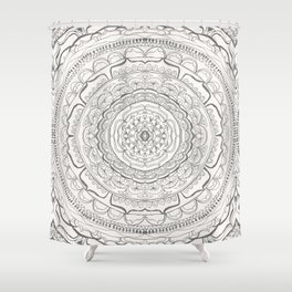 Black & White Lace Shower Curtain