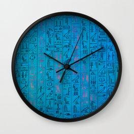 Ancient egyptian blu Wall Clock