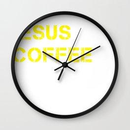 Jesus, Coffee & Louisiana Wall Clock