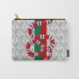 Goyard White Guci Carry-All Pouch