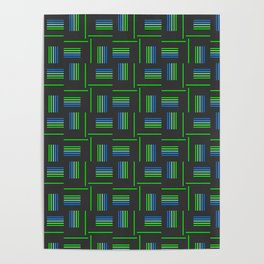 Abstract Windmills Pattern Poster