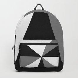 Retro Pop Art Beams - Black White Grey Backpack