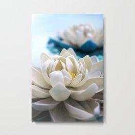 Flowers on the pond Metal Print