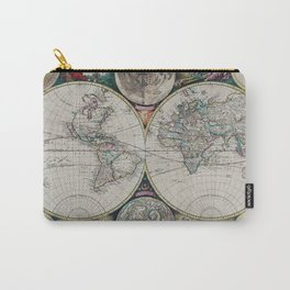 Atlas Maritimus - Vintage World Map Carry-All Pouch