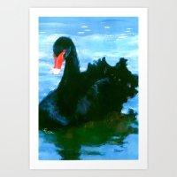 noir Art Prints featuring NOIR by FOXART  - JAY PATRICK FOX