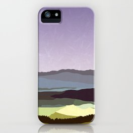 Sunset over the Valley iPhone Case