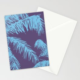 Ultra Violet Palm Print Stationery Cards