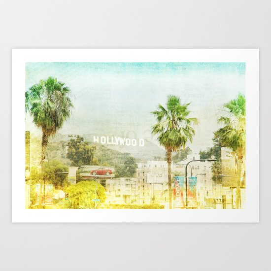 Dreams of many, nightmare of most _ hollywood sign Art Print