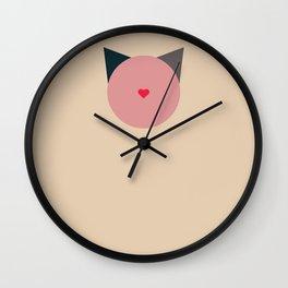 blooming cat Wall Clock