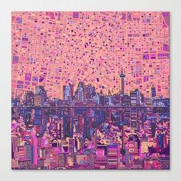 san antonio city skyline abstract 5 Canvas Print