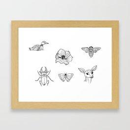 Nature Tattoo Flash Designs Framed Art Print