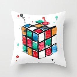 Rubik's Cube Throw Pillow