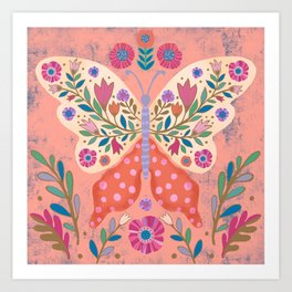 Blooming Butterfly Art Print
