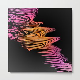 Left to Right Pink and Orange Flow Metal Print