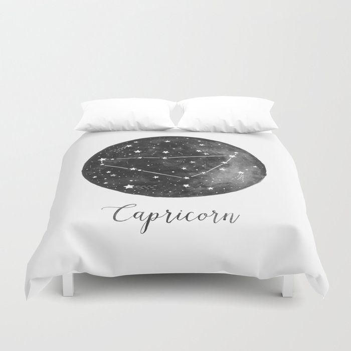 Capricorn Constellation Duvet Cover