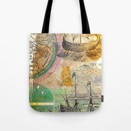 lost at sea Tote Bag