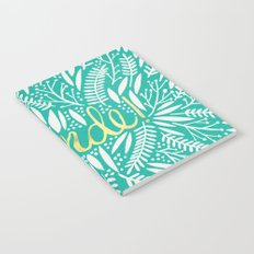 Pardon My French – Gold on Turquoise Notebook