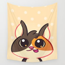 Curious Kitty Cat Wall Tapestry