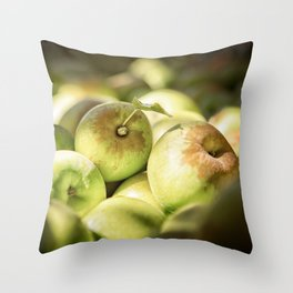 Green Jewels Throw Pillow