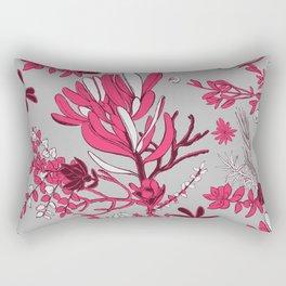 Fuchsia Cradle Flora Rectangular Pillow