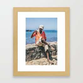African Man Drinking Coca-Cola Framed Art Print