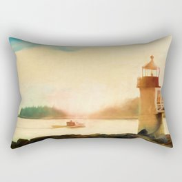 A Day In Maine Rectangular Pillow