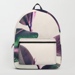 Pink and Green Iridescent Leaves Backpack
