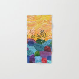on and on fields Hand & Bath Towel