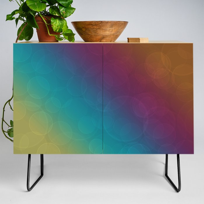 Bohek Bubbles on Rainbow of Color - Ombre multi Colored Spheres Credenza