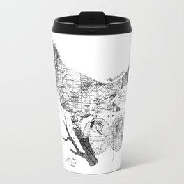 Bird Wanderlust Black and White Travel Mug