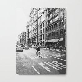 New York City Bicycle Ride in Soho Metal Print