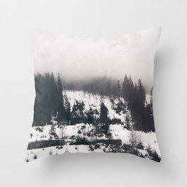 winter photo #winter #blackandwhite #photography Throw Pillow