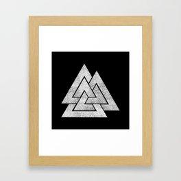 Valknut Framed Art Print