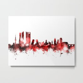 Madrid Spain Skyline Metal Print