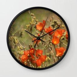Desert Wildflower - 4 Wall Clock