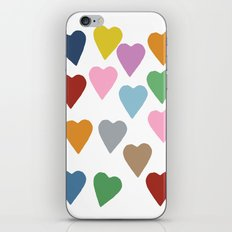 Hearts Colour iPhone Skin