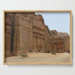 Rock Temples of Petra, facades, Jordan Serving Tray