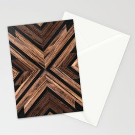 Urban Tribal Pattern No.3 - Wood Stationery Cards