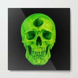 3rd Eye Contact (Green) Metal Print