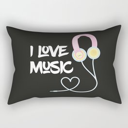 I Love Music Rectangular Pillow