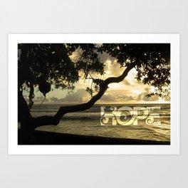 Hawaii-Hope Art Print