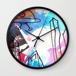 UFO Town Wall Clock