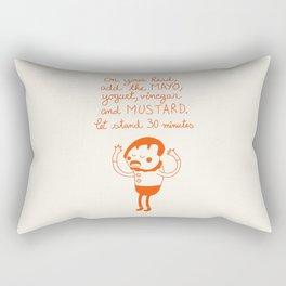 Mayo and Mustard Rectangular Pillow