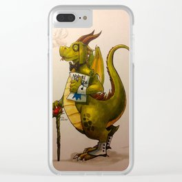 Snooty Dragons Clear iPhone Case